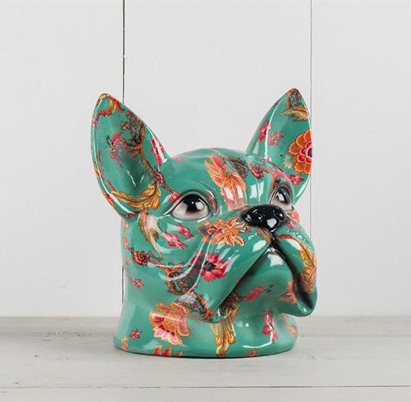 Fransk Bulldog, blommig