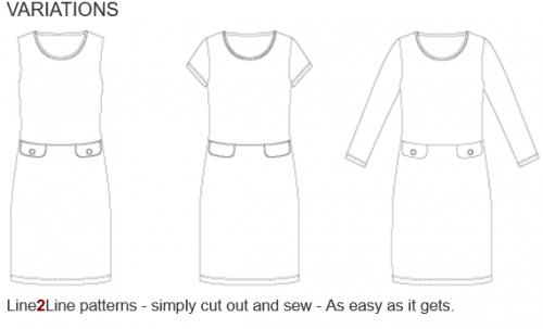 Klänningsmönster med fickor, k2216