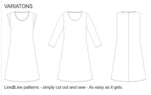 Klänningsmönster med vidd i kjolen  k2213