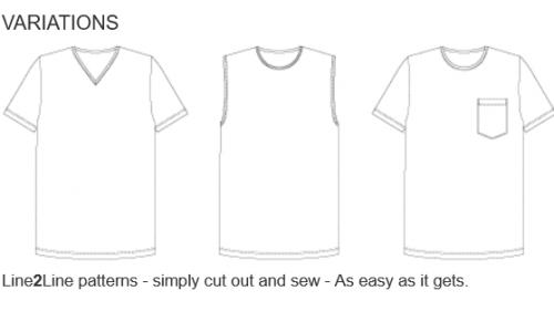 mönster till T-shirt, passar för män