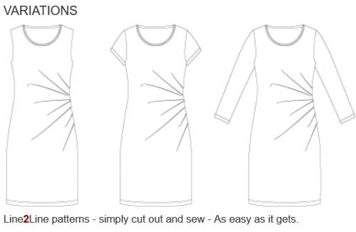 klänningsmönster med sidveck