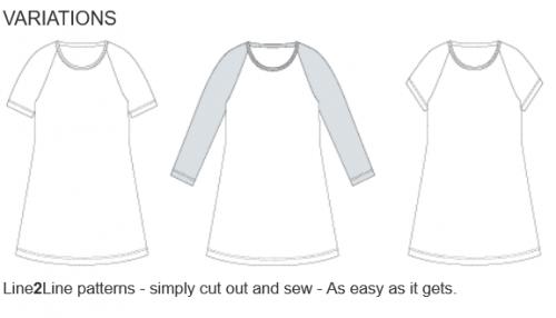 Basic T-shirt dress - kids, C501