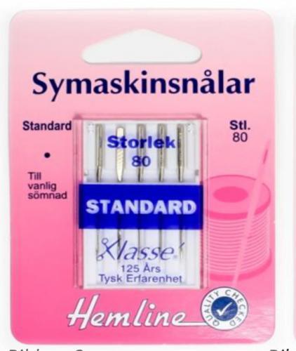Symaskinsnålar Standard 80