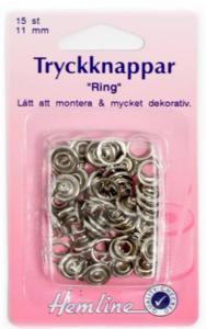 """NITTRYCKKNAPPAR """"RING"""" silver"""