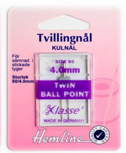 Tvillingnål stretch 4.0/80