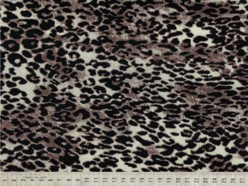 Viskos/vortex stretch Digi leopard beige brun