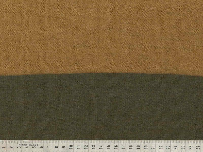 Ull Jacquard senapsgul/grön 170cm