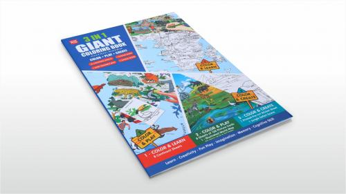 3 in 1 Giant Coloring Book