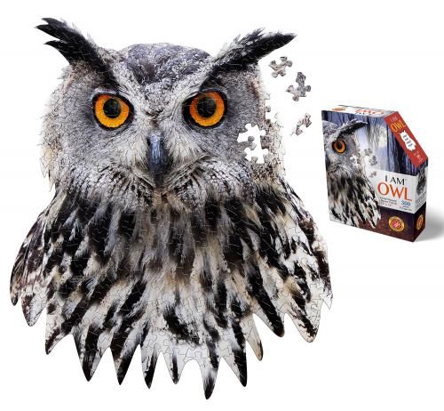 I Am Owl, Head Shape Puzzles 300  bitar