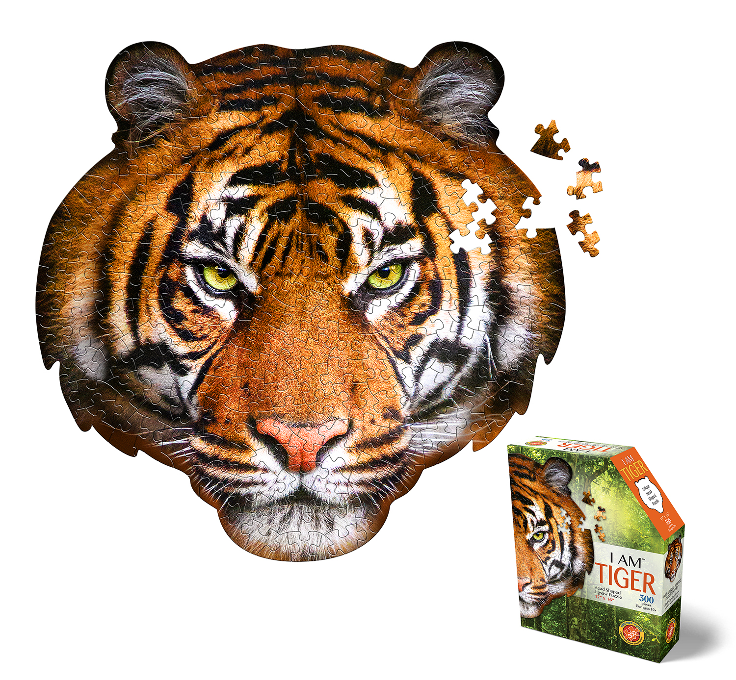I Am Tiger, Head Shape Puzzles 550  bitar
