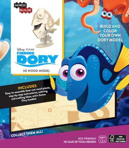 Disney Pixar: Finding Dory 3D Wood Model and Book