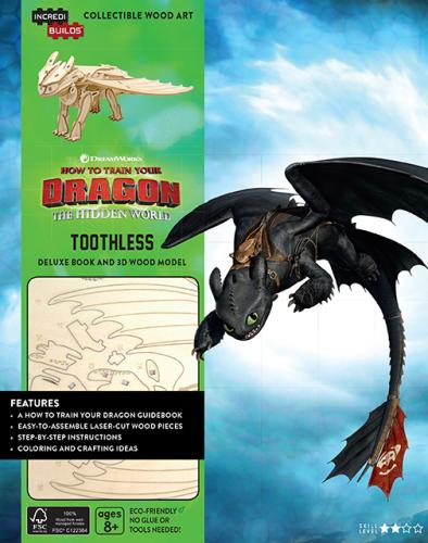 DreamWorks: Toothless 3D Wood Model and Book