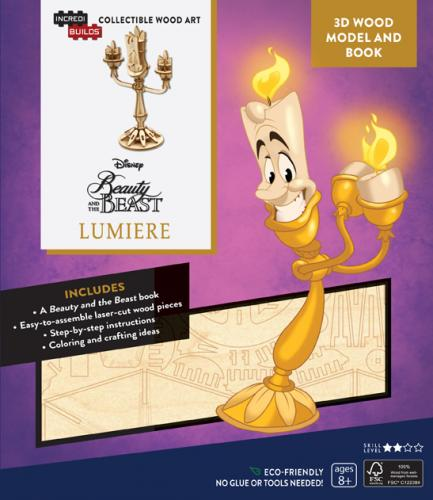 Disney: Lumiere 3D Wood Model and Book