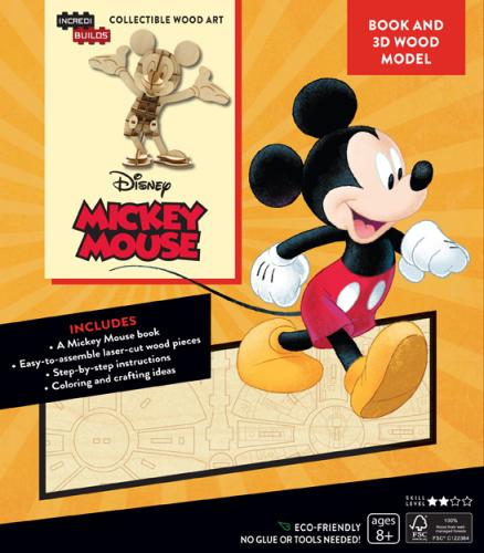 Disney: Mickey Mouse 3D Wood Model and Book