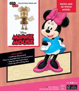 Disney: Minnie Mouse 3D Wood Model and Book
