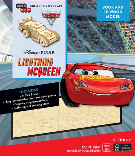 Disney Pixar: Lightning McQueen 3D Wood Model and Book