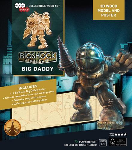 Bioshock: Big Daddy Book and 3D Wood Model
