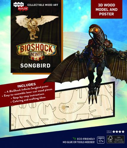 Bioshock: Songbird Book and 3D Wood Model