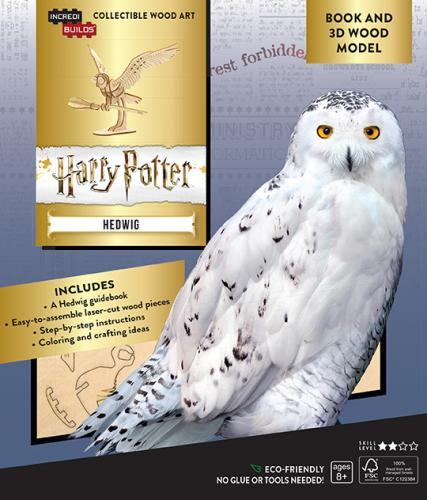 Harry Potter: Hedwig 3D Wood Model and Book