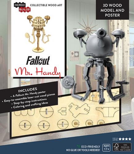 Fallout: Mr Handy Book and 3D Wood Model