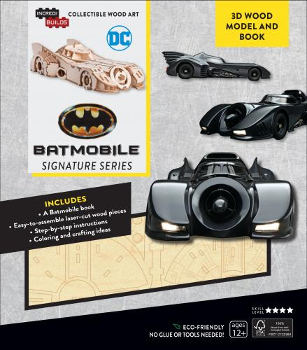 Batmobile Signature Series 3D Wood Model and Book