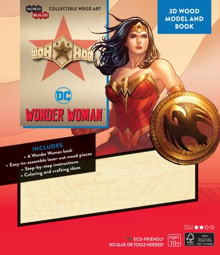 DC Comics: Wonder Woman 3D Wood Model and Book