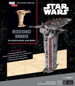 Star Wars: Resistance Bomber Book and 3D Wood Model