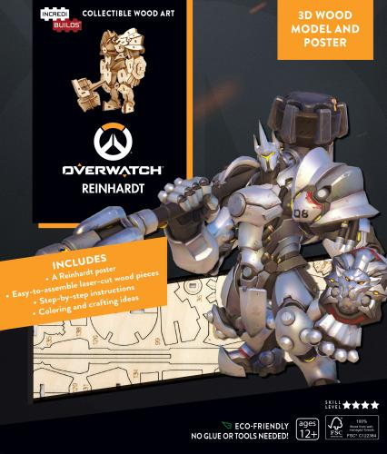 Overwatch: Reinhardt Book and 3D Wood Model