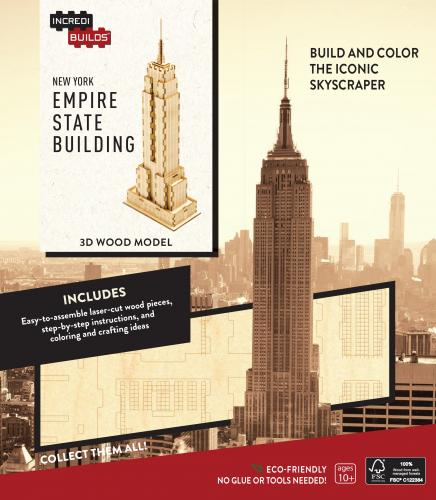 New York: Empire State Building 3D Wood Model