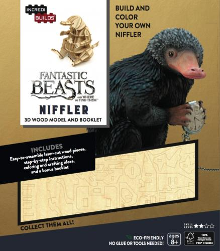 Fantastic Beasts and Where to Find Them: Niffler 3D Wood Model and Booklet