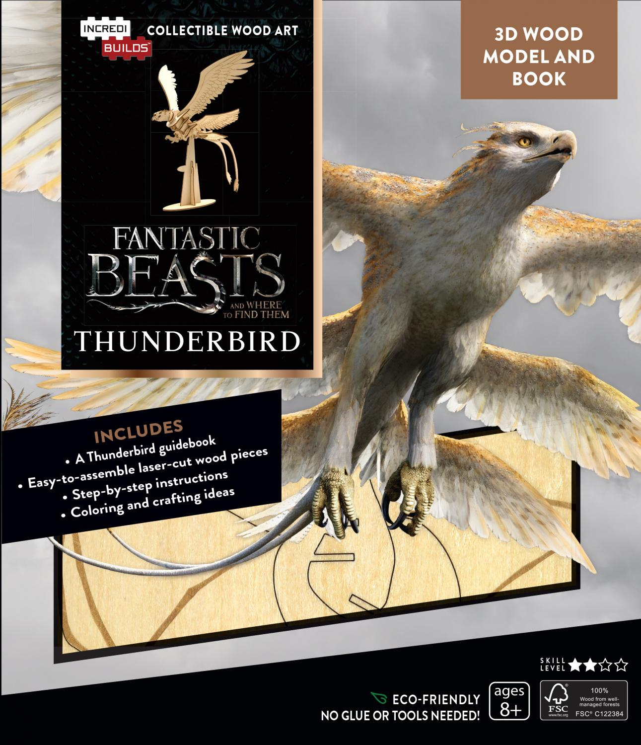 Fantastic Beasts and Where to Find Them: Thunderbird Book and 3D Wood Model