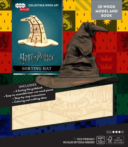 Harry Potter: Sorting Hat 3D Wood Model