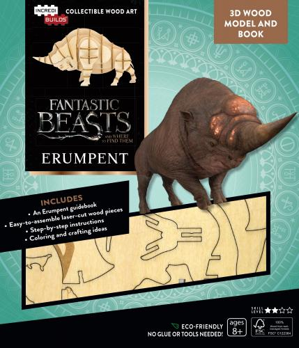 Fantastic Beasts and Where to Find Them: Erumpent Book and 3D Wood Model