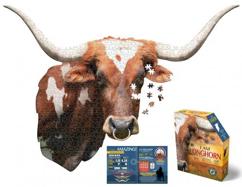 I Am Longhorn, Head Shape Puzzles 550  bitar