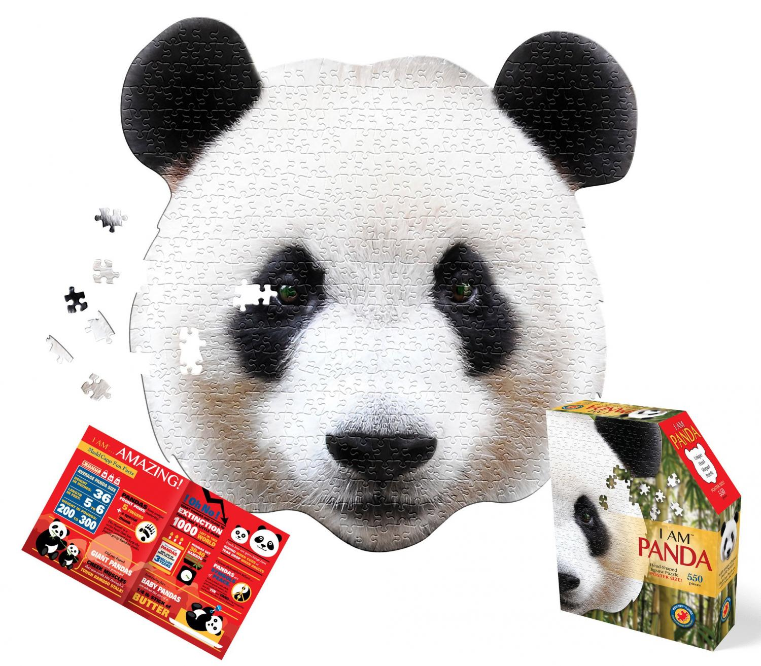 I Am Panda, Head Shape Puzzles 550  bitar