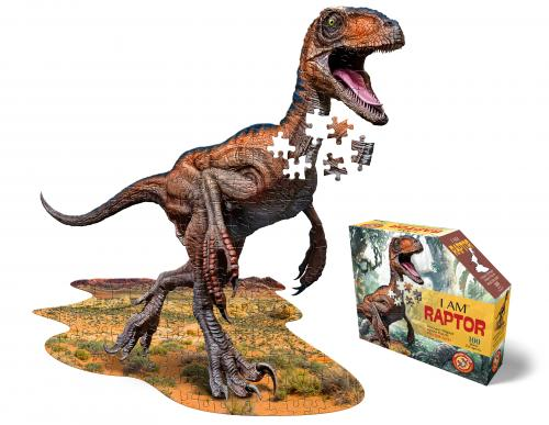 I Am Raptor, Head Shape Puzzles 100 bitar