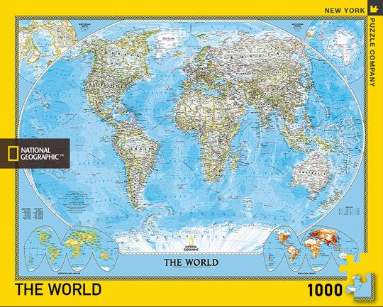 "Pussel National Geographic ""World"" 1000 bitar"