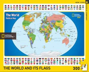 "Pussel National Geographics ""World Kids Map"" 300 bitar"