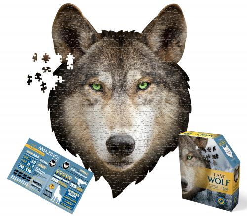 I Am Wolf, Head Shape Puzzles 550  bitar
