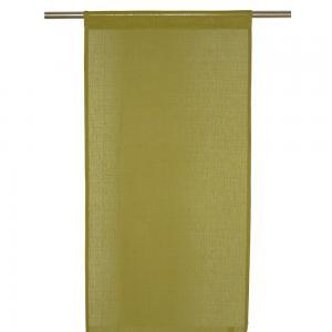 Panelgardin DANIS, enfärgad, olivgrön