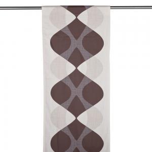 Panelgardin NIRVANA, stormönstrad retro, brun/lin/vit