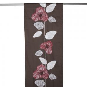 Panelgardin VIENNA, blomranka, brun
