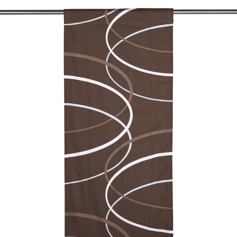 Panelgardin CENTRO, cirkelformer, brun