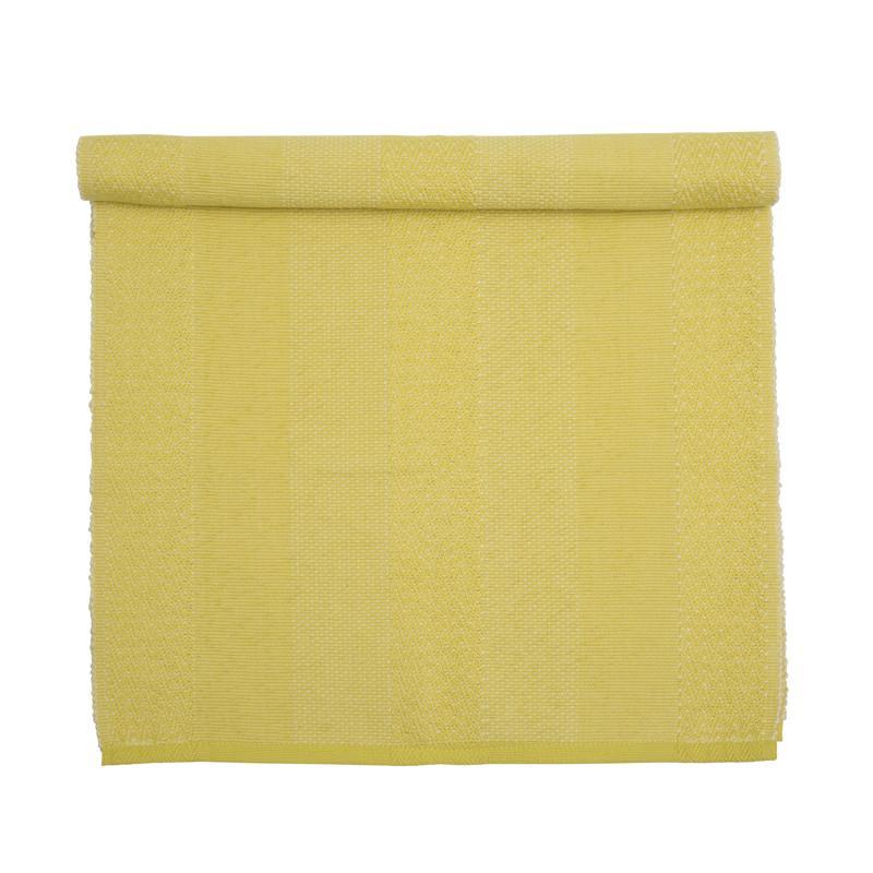 Bordslöpare Ammy, mönstervävd, gul
