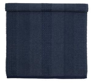 Bordslöpare Ammy, mönstervävd, blå
