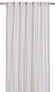 Gardinlängd Fanni, tunn skir med ränder, rosa/vit