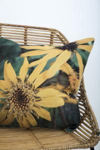 Kuddfodral Sunflower, blomman gul solhatt