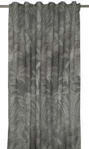 Gardinlängd Palmys med palmbladsmönster, grå