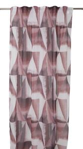 Gardinlängd Hamim, tunn med grafiskt mönster, rosa