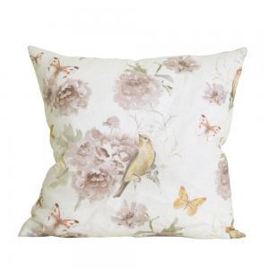 Kuddfodral Bird, fåglar & fjärilar, rosa